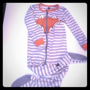 Tea Collection Fox Footed Pajamas